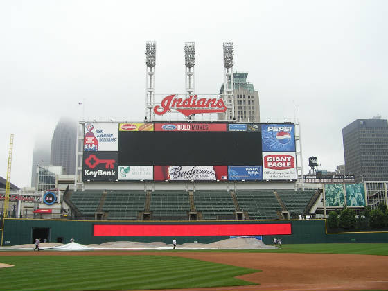 Jacob's Field's giant Scoreboard