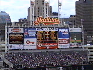 Jacob's Field's Scoreboard in use